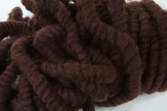 Felted Wool Band dark brown 1m